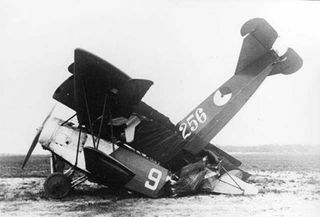 Fokker-DVII-Crash